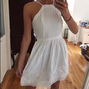 A&F White Lace Eyelet Dress
